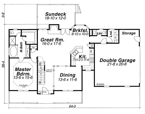 First Floor image of Featured House Plan: BHG - 6813
