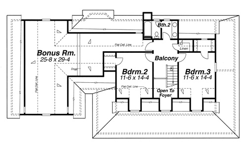 Second Floor image of Featured House Plan: BHG - 8254