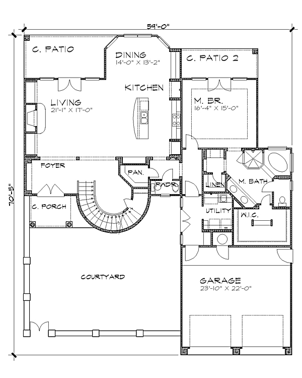 Floor Plan image of Featured House Plan: BHG - 4239