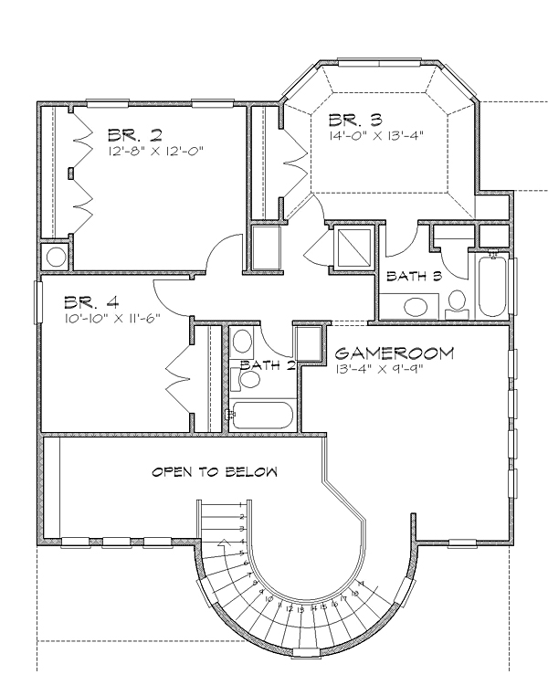2nd floor image of Featured House Plan: BHG - 4239