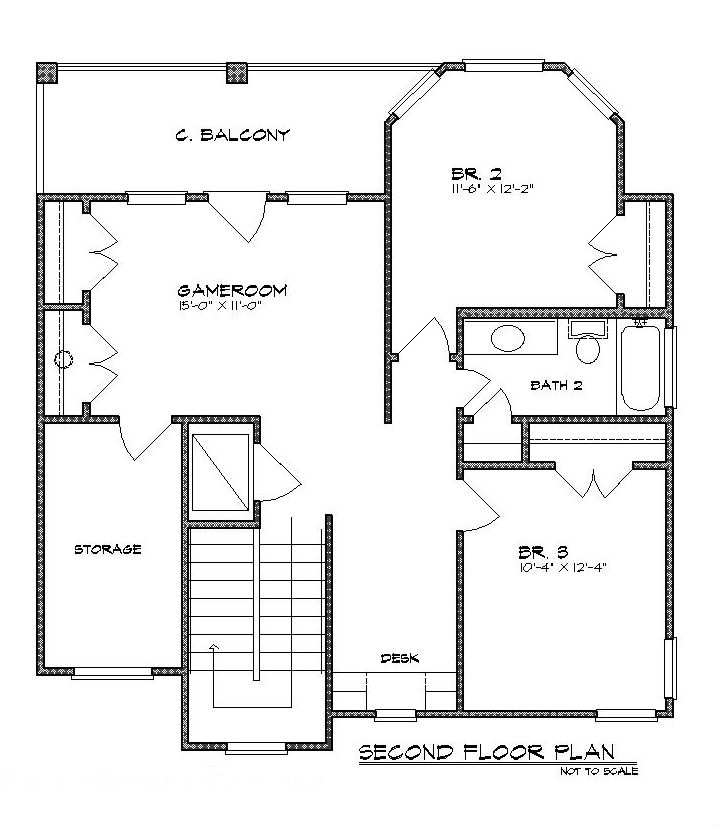 Second Floor Plan image of Featured House Plan: BHG - 5208