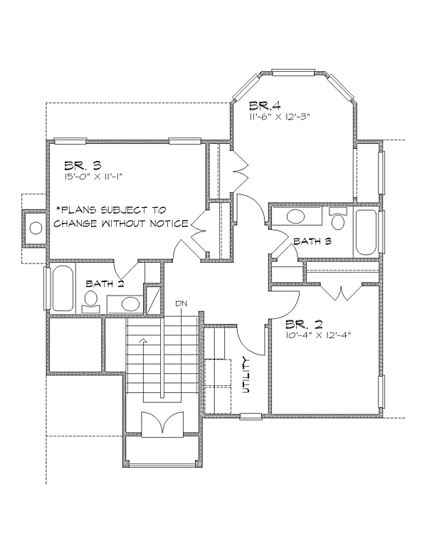 2nd floor image of Featured House Plan: BHG - 4225