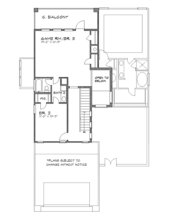 2nd floor image of Featured House Plan: BHG - 4227