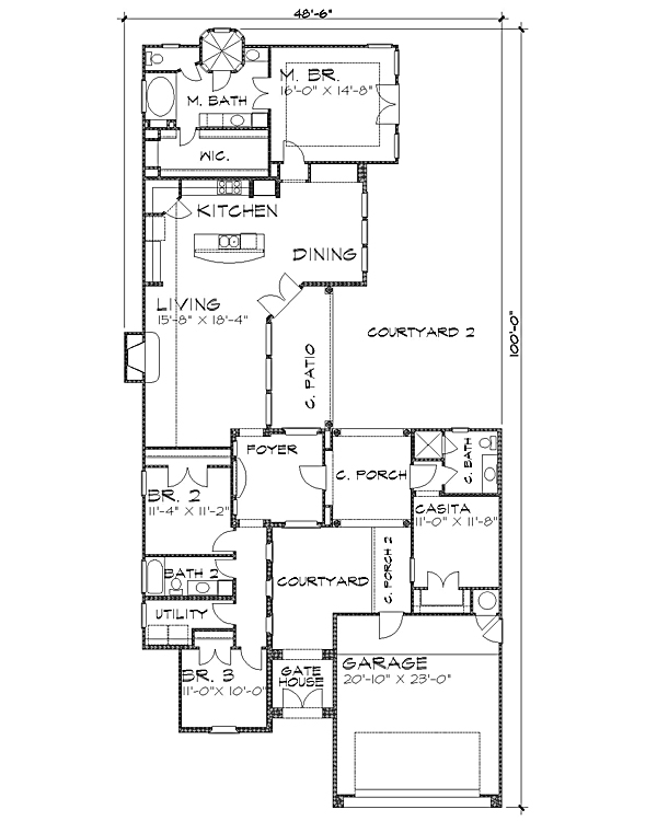 Floor Plan image of Featured House Plan: BHG - 4228