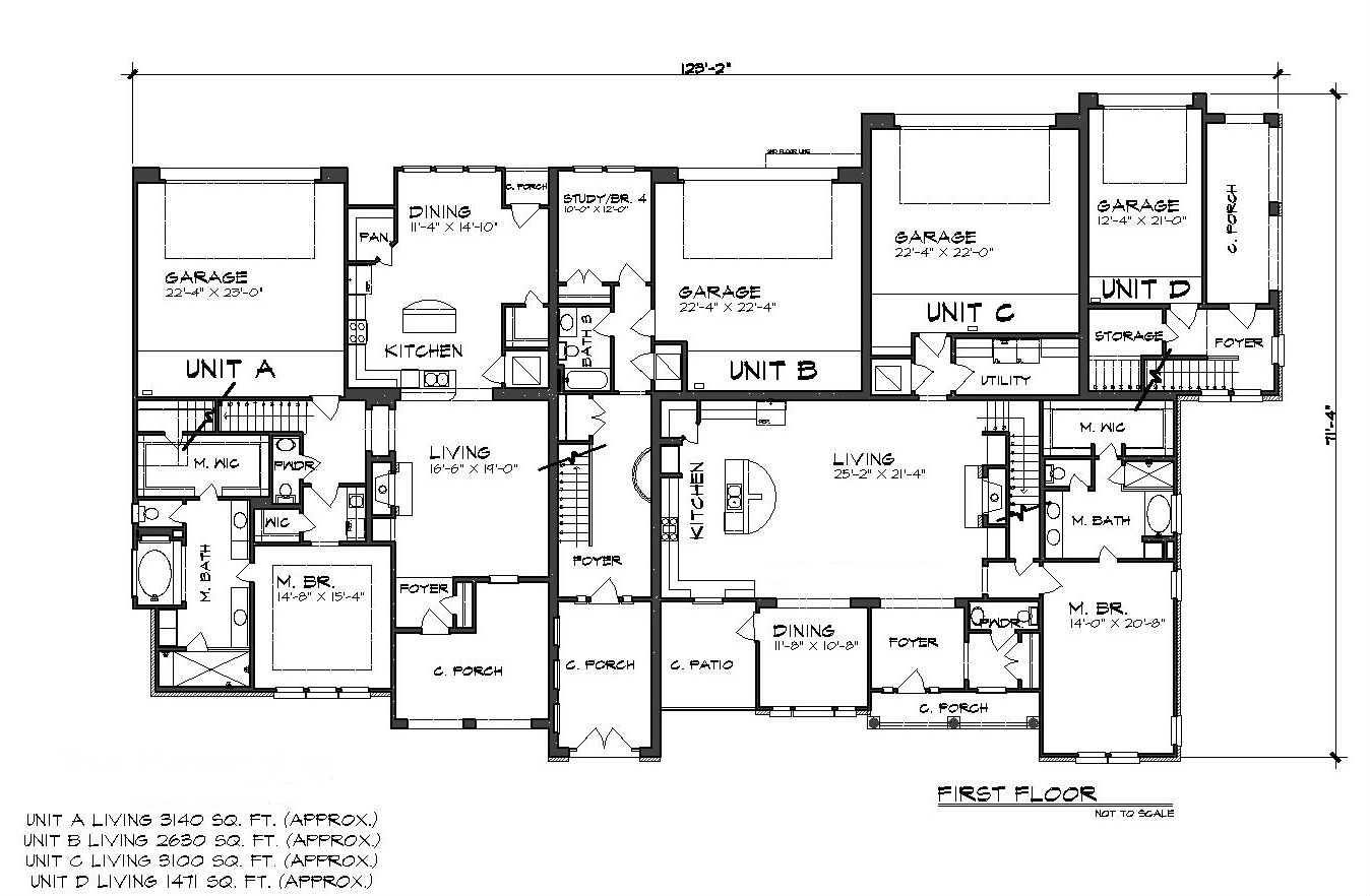 First Floor Plan image of Featured House Plan: BHG - 5133