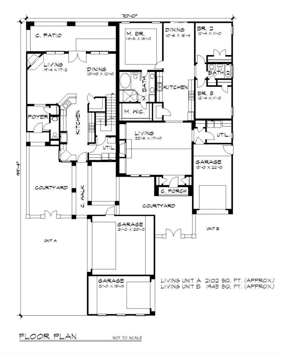 First Floor Plan image of Featured House Plan: BHG - 5199