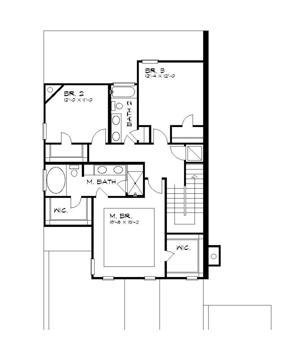 Second Floor Plan image of Featured House Plan: BHG - 5199