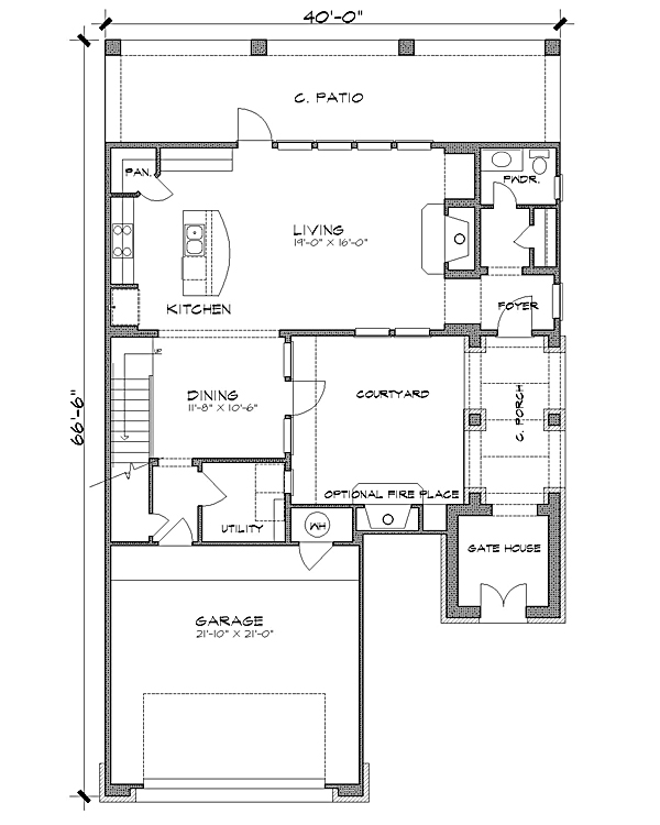 Floor Plan image of Featured House Plan: BHG - 4231