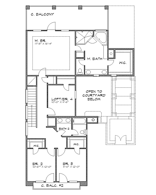 2nd floor image of Featured House Plan: BHG - 4231