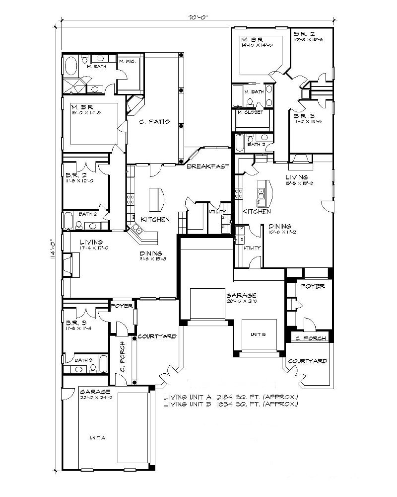 Floor Plan image of Featured House Plan: BHG - 5196