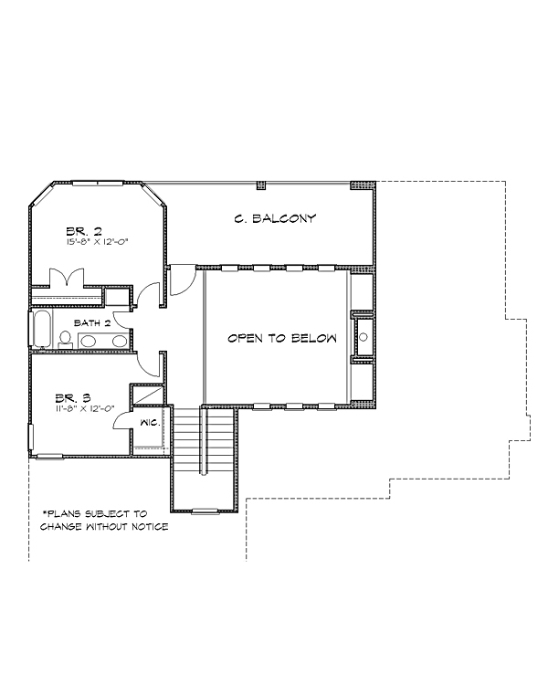 2nd floor image of Featured House Plan: BHG - 4233