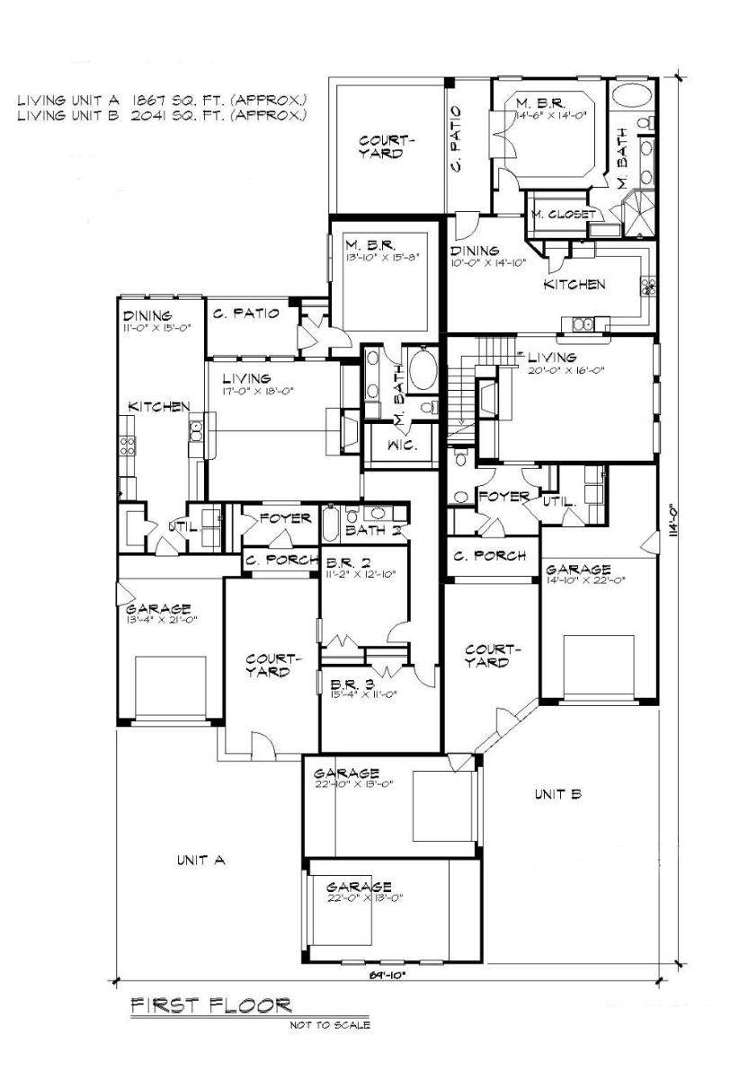 First Floor Plan image of Featured House Plan: BHG - 5198