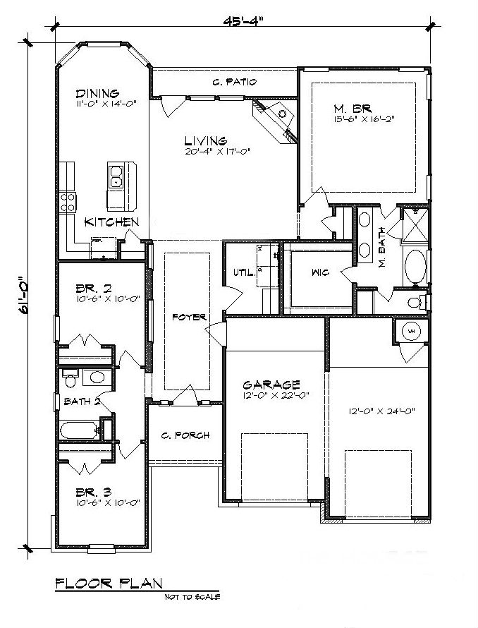 Floor Plan image of Featured House Plan: BHG - 5206