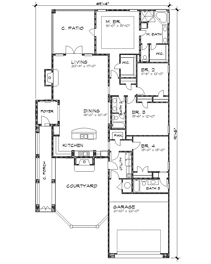 Floor Plan image of Featured House Plan: BHG - 4232