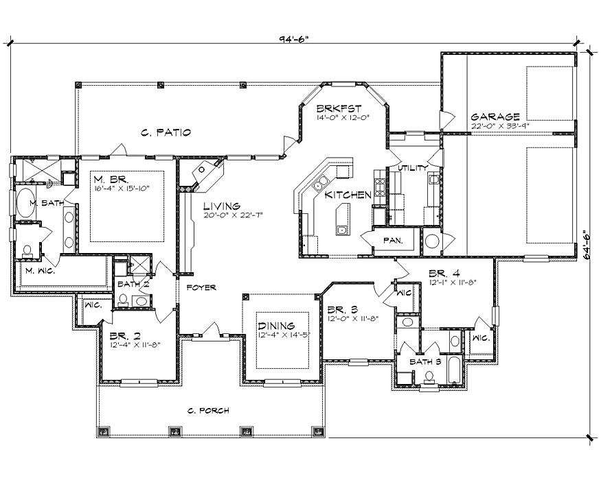 Floor Plan image of Featured House Plan: BHG - 4237