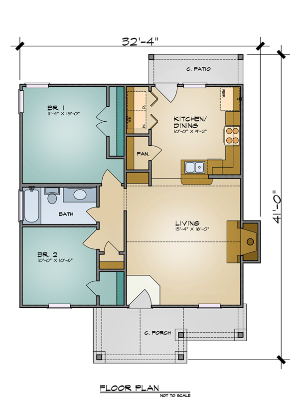 Floor Plan image of Featured House Plan: BHG - 7105