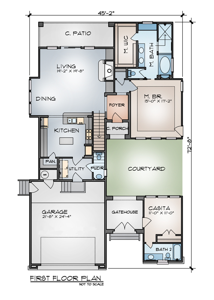 First Floor Plan image of Featured House Plan: BHG - 9002