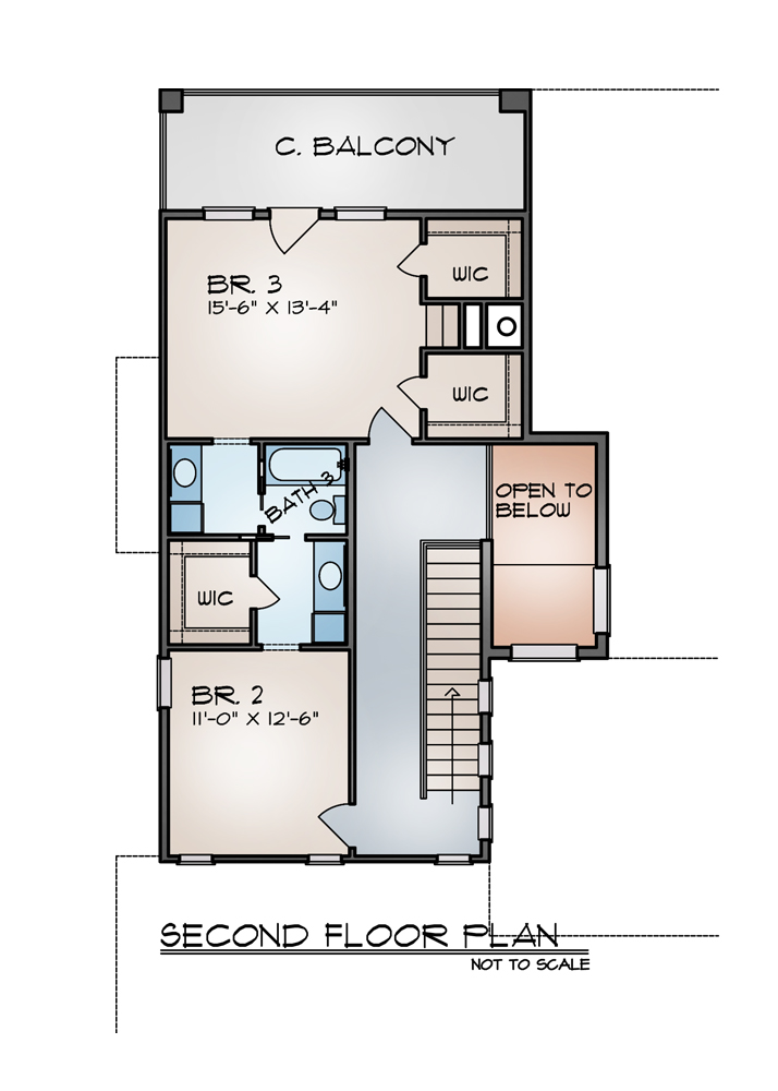 Second Floor Plan image of Featured House Plan: BHG - 9002
