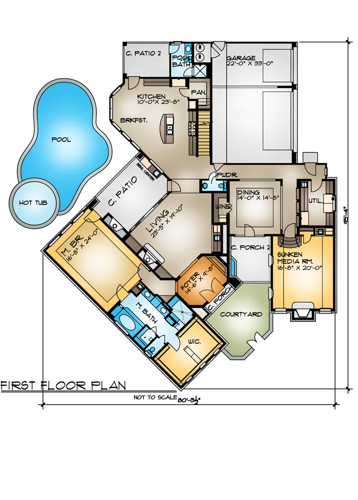 First Floor Plan image of Featured House Plan: BHG - 4262