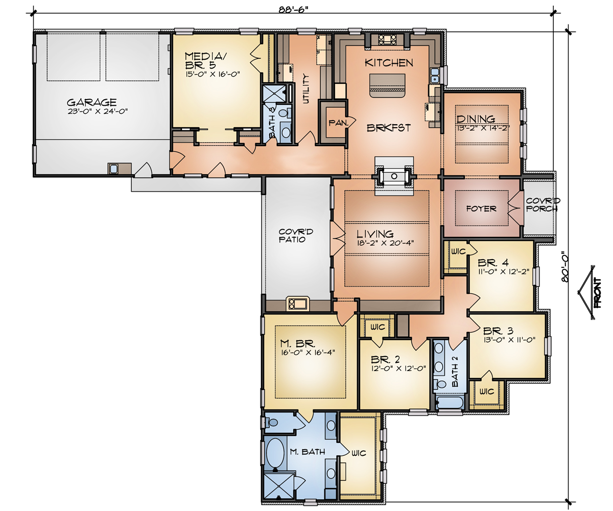Floor Plan image of Featured House Plan: BHG - 9375
