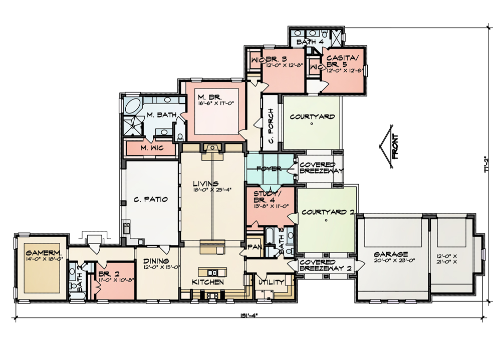 Floor Plan image of Featured House Plan: BHG - 9011