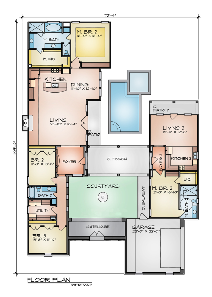 Floor Plan image of Featured House Plan: BHG - 4243