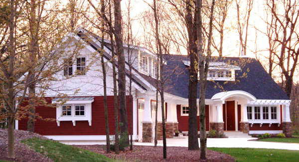 The Red Cottage with Optional Bonus Room House Plan