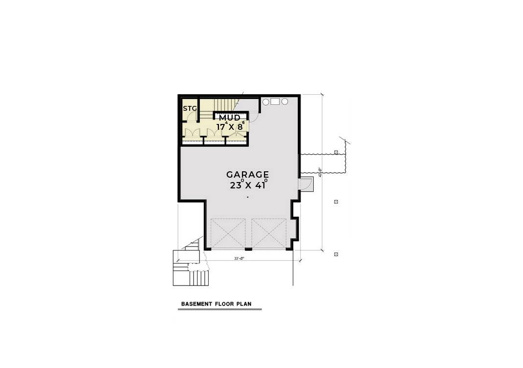 Basement image of Featured House Plan: BHG - 6454