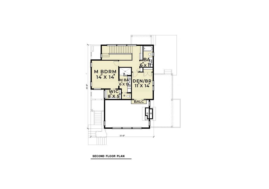 2nd Floor Plan image of Featured House Plan: BHG - 6454