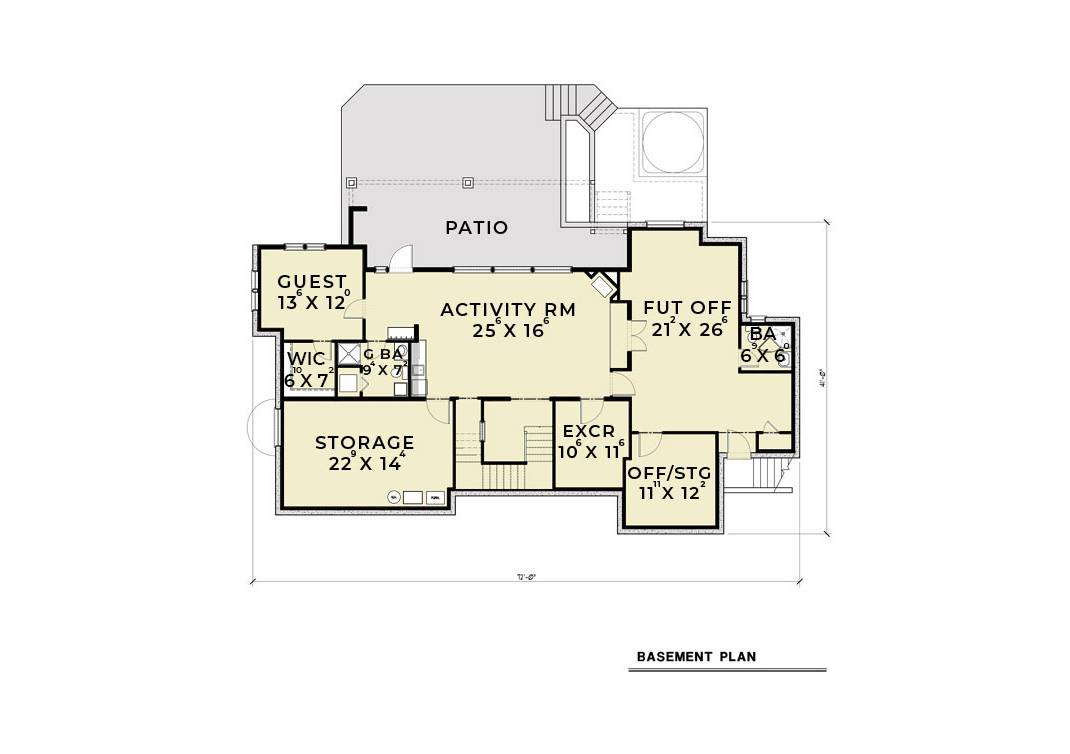 Basement image of Featured House Plan: BHG - 6473