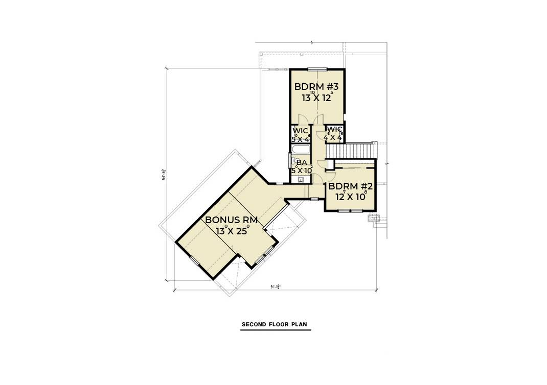 2nd Floor Plan image of Featured House Plan: BHG - 6846