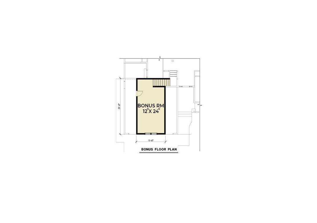Bonus Floor Plan image of Featured House Plan: BHG - 7108