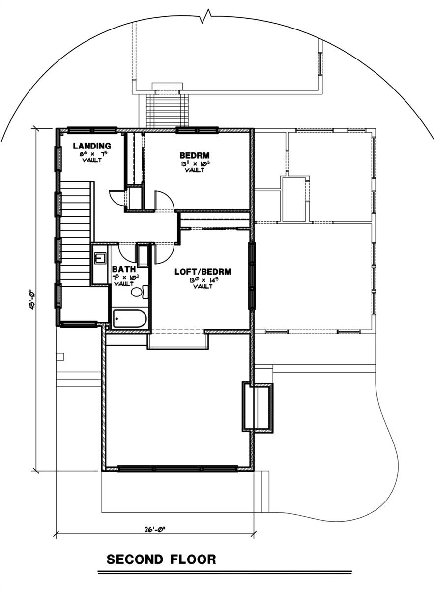 2nd Floor Plan image of Featured House Plan: BHG - 7249