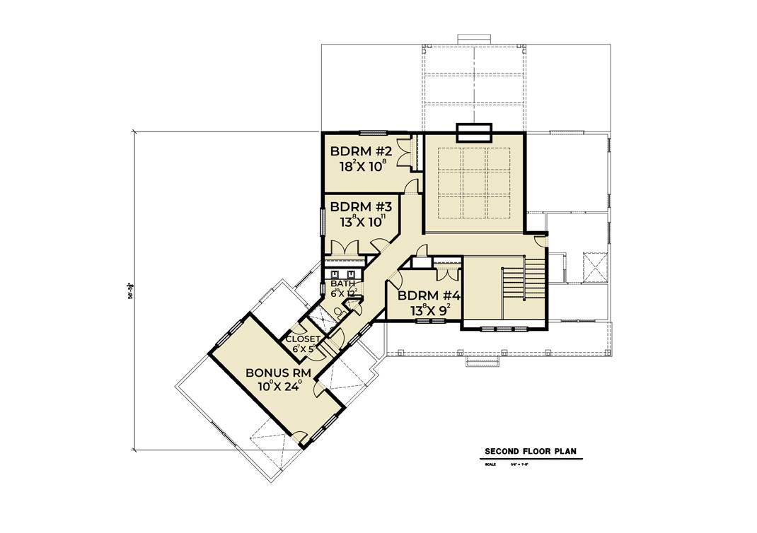 2nd Floor Plan image of Featured House Plan: BHG - 7444