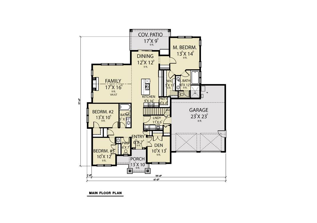 1st Floor image of Featured House Plan: BHG - 8309
