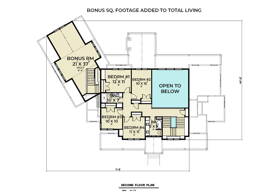 2nd Floor image of Featured House Plan: BHG - 8834