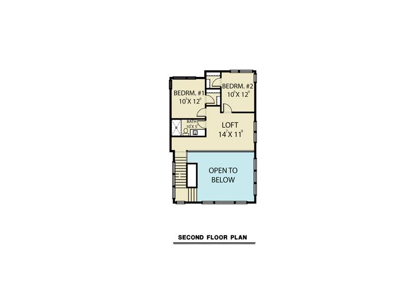 2nd Floor image of Sloping Lot Contemporary Style House Plan 8857