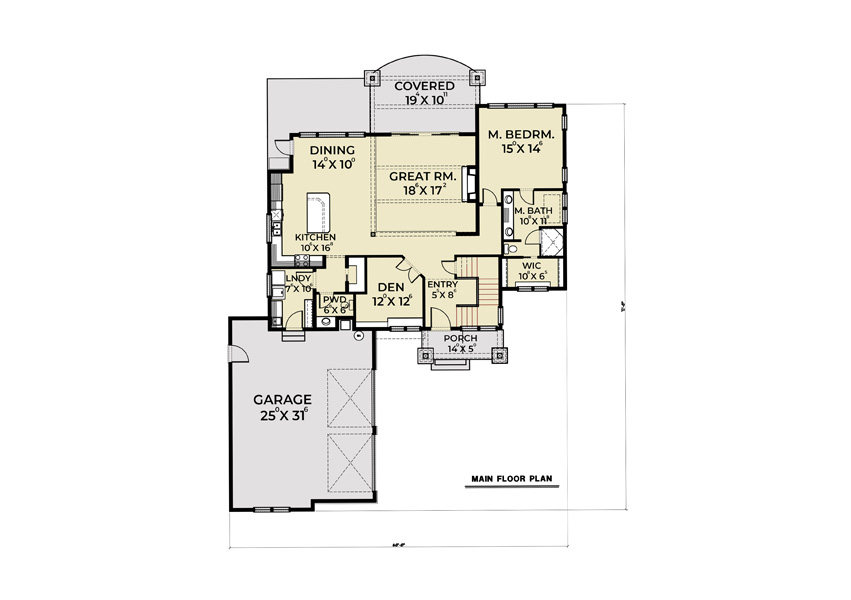 1st Floor image of Featured House Plan: BHG - 8664