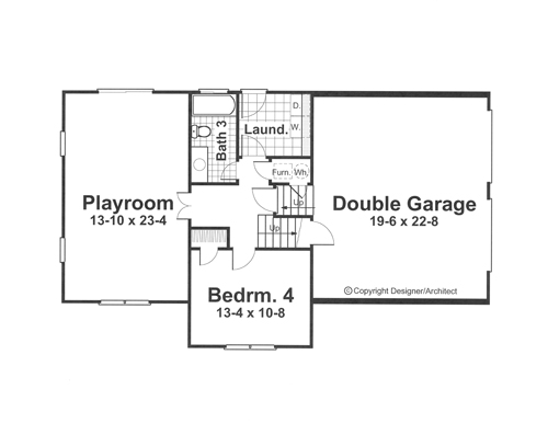 Lower Level image of Featured House Plan: BHG - 1052
