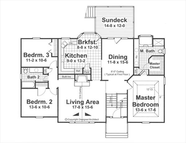 Floor Plan image of Featured House Plan: BHG - 1614