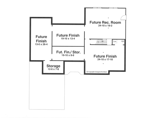 Lower Level image of Featured House Plan: BHG - 1107