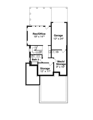 Lower Level image of Featured House Plan: BHG - 7890