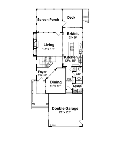 First Floor image of Featured House Plan: BHG - 7890