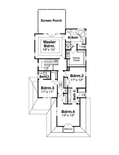 Second Floor image of Featured House Plan: BHG - 7890