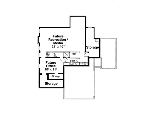 Lower Level image of Featured House Plan: BHG - 8066