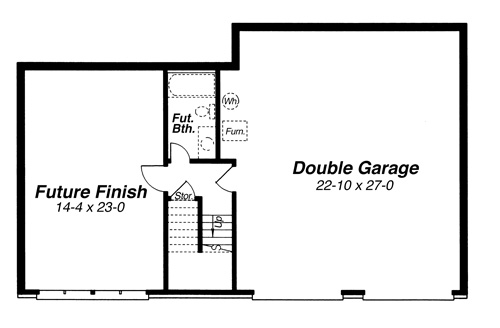 Lower Level image of Featured House Plan: BHG - 8243