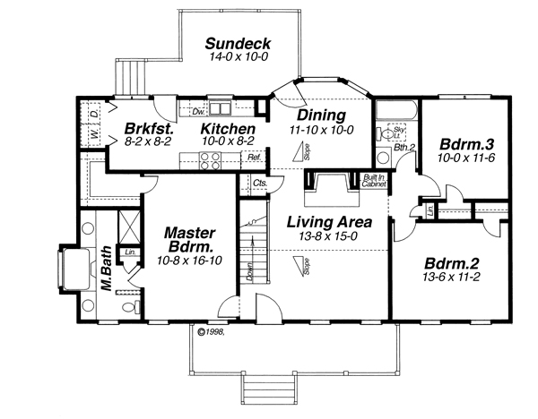 Floor Plan image of Featured House Plan: BHG - 6825