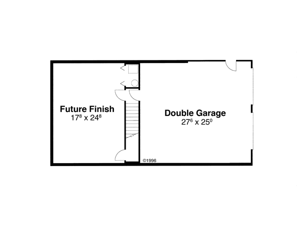 Lower Level image of Featured House Plan: BHG - 6825