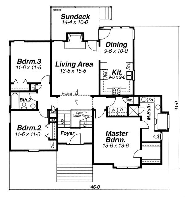 Floor Plan image of Featured House Plan: BHG - 8244