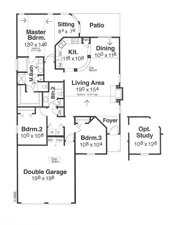 Floor Plan image of Featured House Plan: BHG - 5688